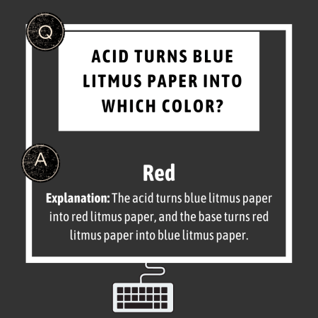 Acid turns blue litmus paper into which color?