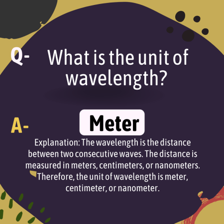 What is the unit of wavelength?