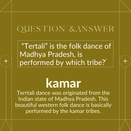 """""""Tertali"""" is the folk dance of Madhya Pradesh, is performed by which tribe?"""
