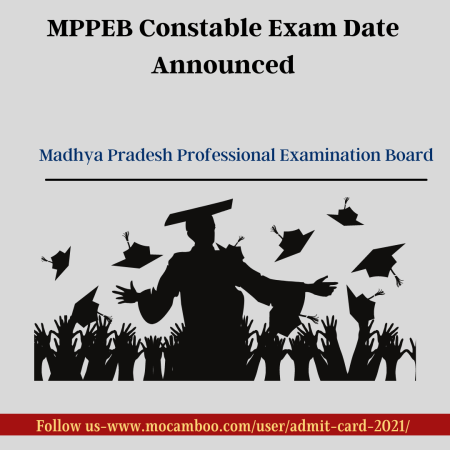 MPPEB Constable Exam Date Announced