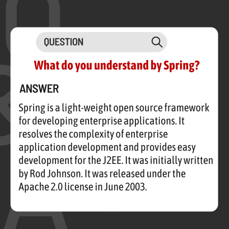 What do you understand by Spring?