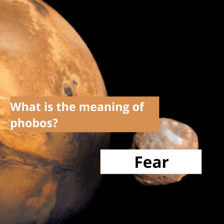What is the meaning of phobos?