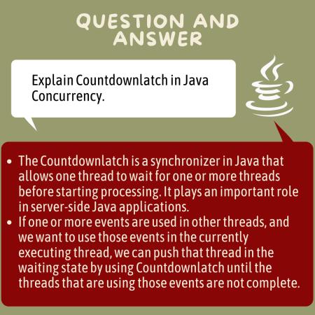 Explain Countdownlatch in Java Concurrency.