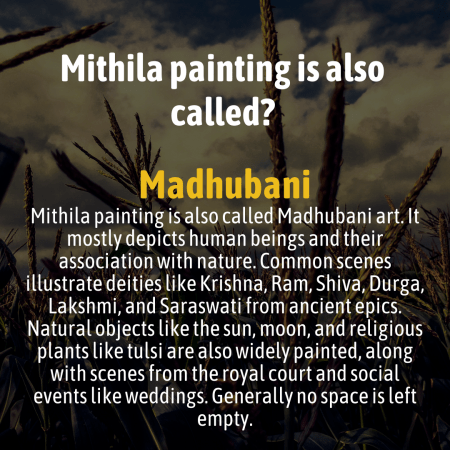 Mithila painting is also called?