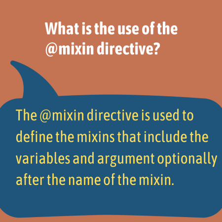 What is the use of the @mixin directive?