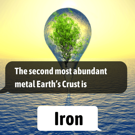 The second most abundant metal Earth's Crust is