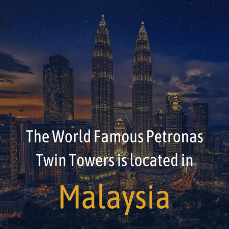 The World Famous Petronas Twin Towers is located in
