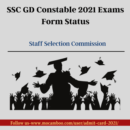 SSC GD Constable 2021 Exams Form Status