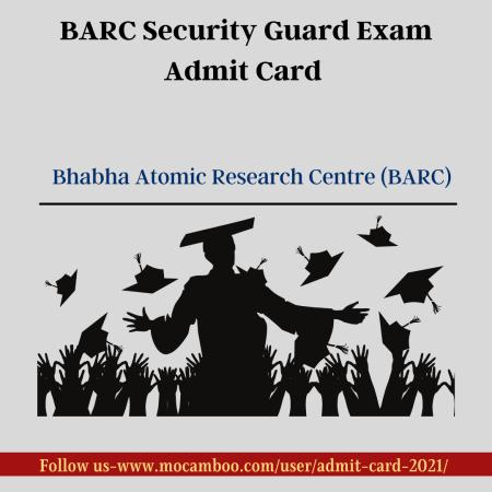 BARC Security Guard Exam Admit Card