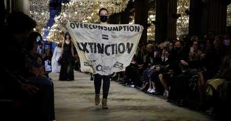 A Climate Activist Walked in the Louis Vuitton Fashion Show