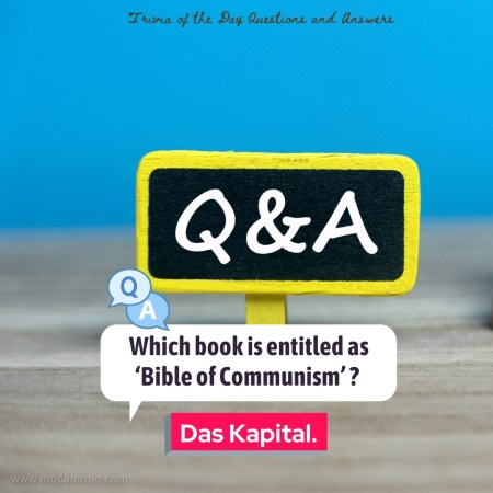 Which book is entitled as 'Bible of Communism' ?