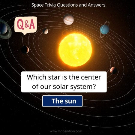Which star is the center of our solar system?