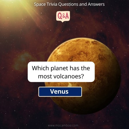 Which planet has the most volcanoes?