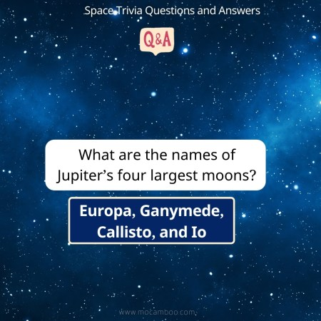 What are the names of Jupiter's four largest moons?