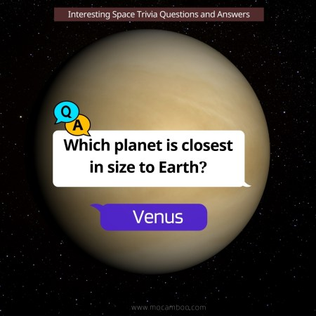 Which planet is closest in size to Earth?
