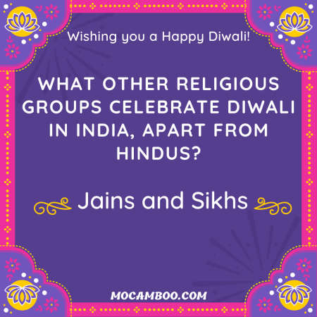 What other religious groups celebrate Diwali in India, apart from Hindus?