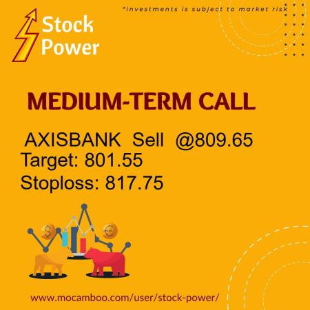 Live  AXISBANK  Sell  @809.65    Trading Call