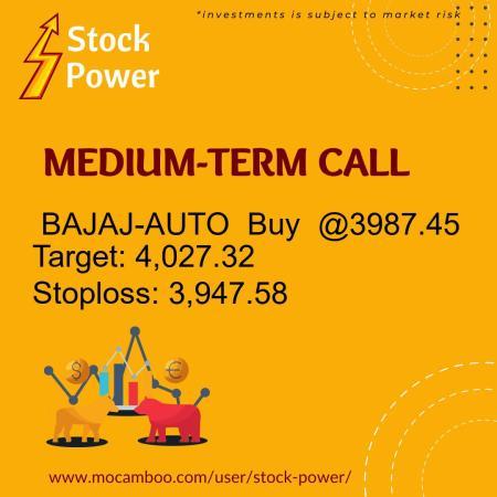 Live  BAJAJ-AUTO  Buy  @3987.45    Trading Call