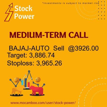 Live  BAJAJ-AUTO  Sell  @3926.00    Trading Call