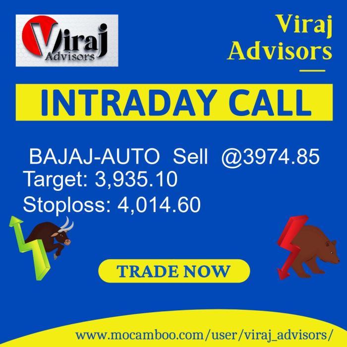 Live  BAJAJ-AUTO  Sell  @3974.85    Trading Call