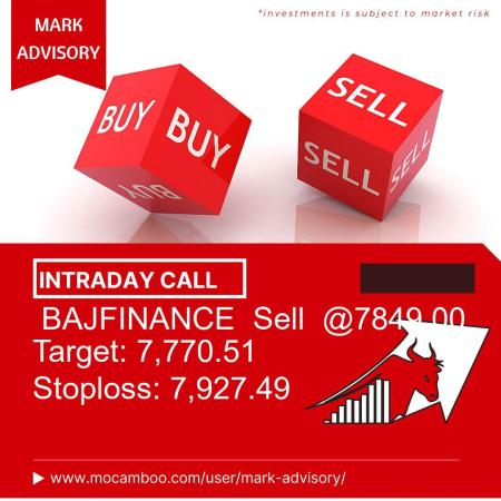 Live  BAJFINANCE  Sell  @7849.00    Trading Call