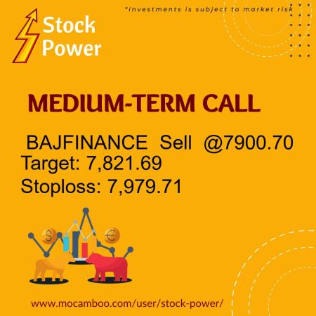 Live  BAJFINANCE  Sell  @7900.70    Trading Call