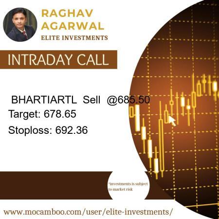 Live  BHARTIARTL  Sell  @685.50    Trading Call