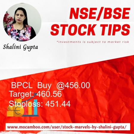 Live  BPCL  Buy  @456.00    Trading Call