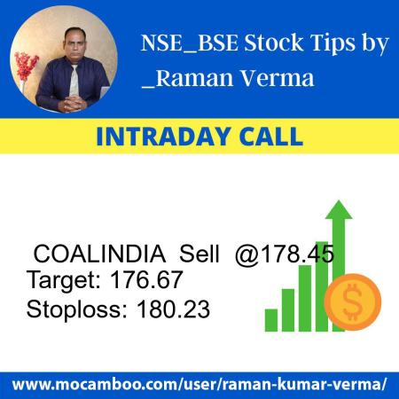 Live  COALINDIA  Sell  @178.45    Trading Call