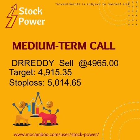 Live  DRREDDY  Sell  @4965.00    Trading Call