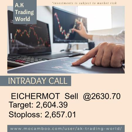 Live  EICHERMOT  Sell  @2630.70    Trading Call