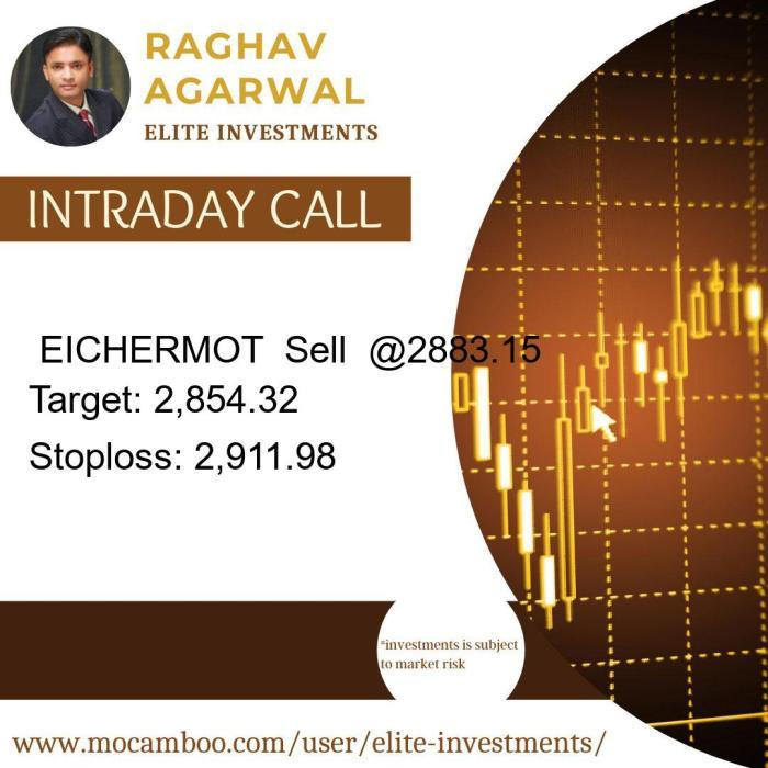 Live  EICHERMOT  Sell  @2883.15    Trading Call