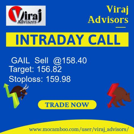 Live  GAIL  Sell  @158.40    Trading Call