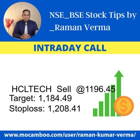 Live  HCLTECH  Sell  @1196.45    Trading Call