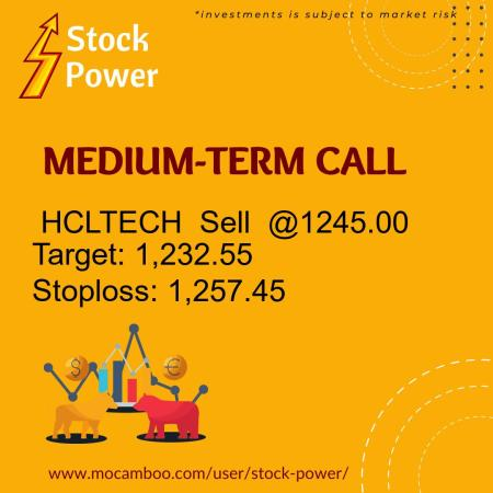 Live  HCLTECH  Sell  @1245.00    Trading Call