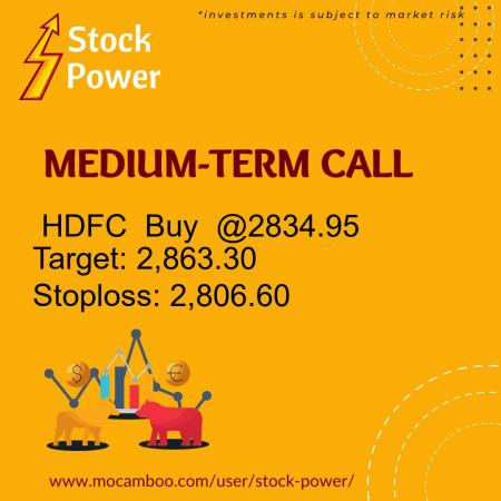 Live  HDFC  Buy  @2834.95    Trading Call