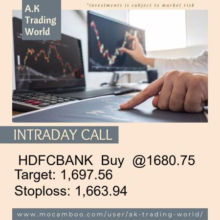 Live  HDFCBANK  Buy  @1680.75    Trading Call