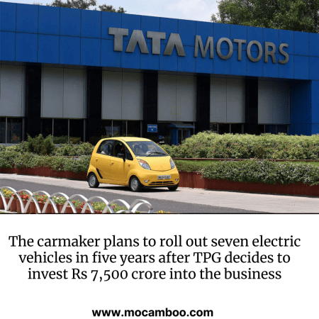 The carmaker plans to roll out seven electric vehicles in five years after TPG decides to invest ...