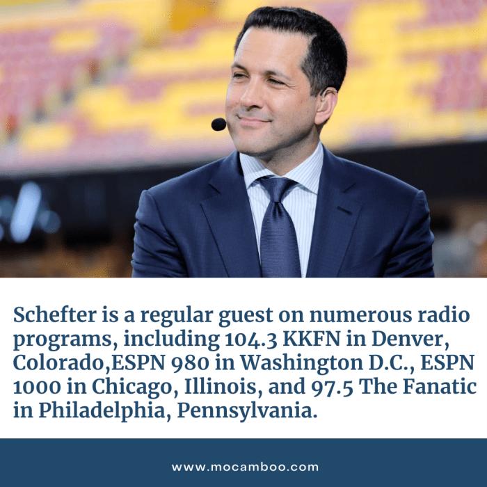 Schefter is a regular guest on numerous radio programs, including 104.3 KKFN in Denver, Colorado ...