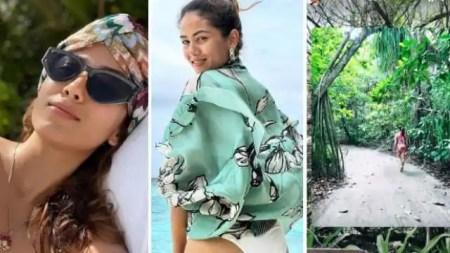 mira rajput poses in white bikini in maldives called herself beach bum – Entertainment New ...