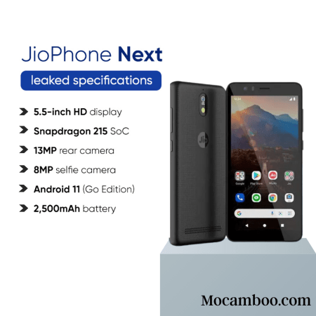 JioPhone Next phone will come with 2GB RAM Android 11 Go edition,