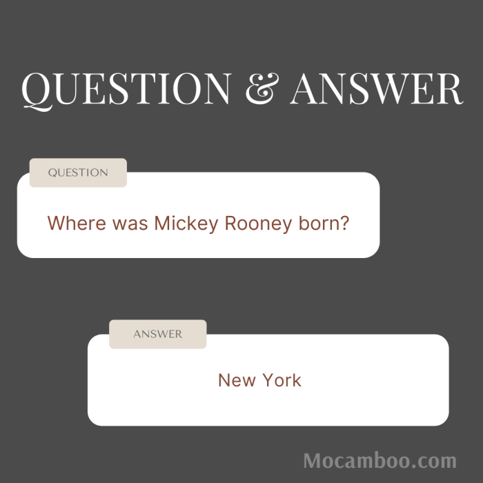 Where was Mickey Rooney born?
