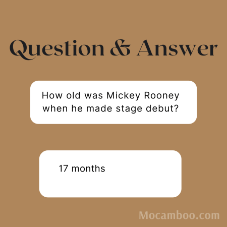 How old was Mickey Rooney when he made stage debut?
