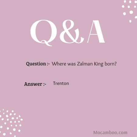 Where was Zalman King born?