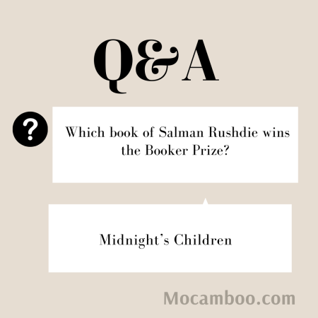 Which book of Salman Rushdie wins the Booker Prize?