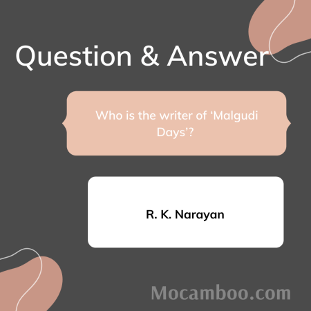 Who is the writer of 'Malgudi Days'?