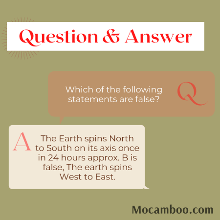Which of the following statements are false?
