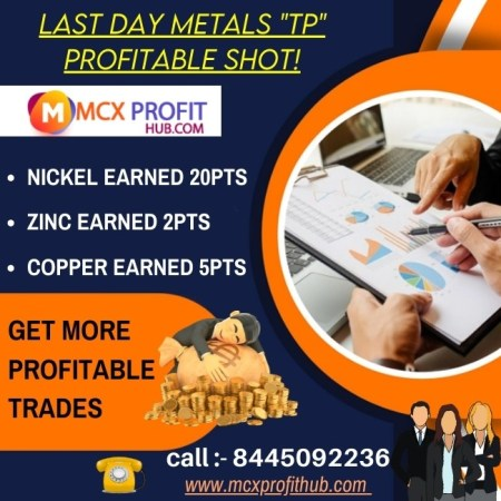 """LAST DAY METALS """"TP"""" PROFITABLE SHOT UPDATE BY MCX PROFITHUB OR GET FREE TRIAL CALL @8445092236"""