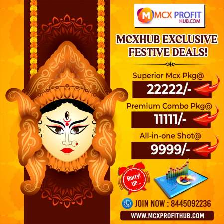 MCX EXCLUSIVE FESTIVAL OFFER UPDATE BY MCX PROFITHUB OR GET FREE TRIAL CALL @8445092236
