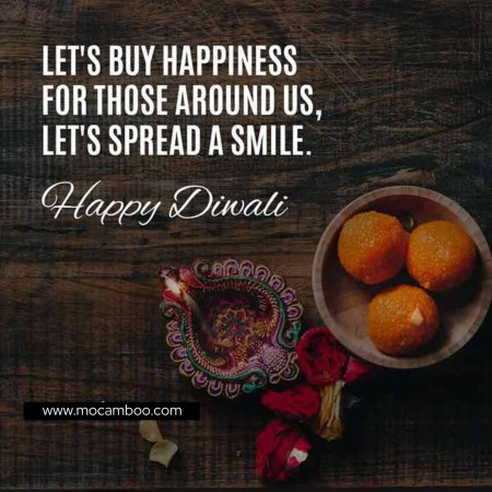 """""""Let's buy happiness for those around us, let's spread a smile. Happy Dhantera ..."""